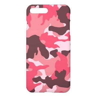 Coque iPhone 8 Plus/7 Plus Motif Girly de camouflage de Brown de rose rose