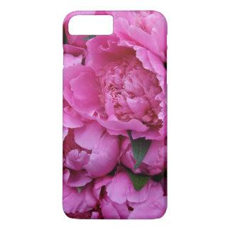 Coque iPhone 8 Plus/7 Plus Motif photographique floral de pivoine rose
