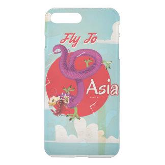Coque iPhone 8 Plus/7 Plus Mouche au voyage vintage de l'Asie