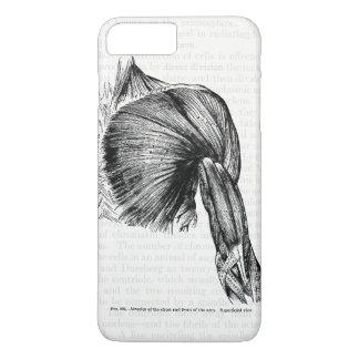 Coque iPhone 8 Plus/7 Plus Muscles antiques d'art d'anatomie du coffre