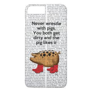 Coque iPhone 8 Plus/7 Plus Ne luttez jamais avec des porcs