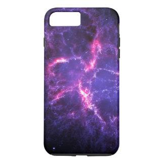 Coque iPhone 8 Plus/7 Plus Nébuleuse de crabe pourpre cosmique SpaceHD