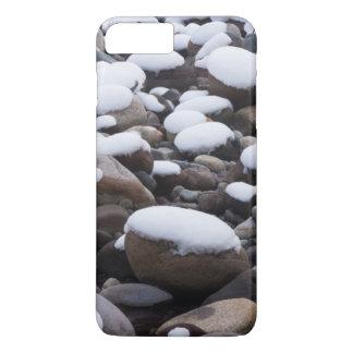 Coque iPhone 8 Plus/7 Plus Neige et roches, parc national de mont Rainier
