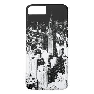 Coque iPhone 8 Plus/7 Plus New York noir et blanc