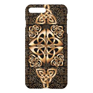 Coque iPhone 8 Plus/7 Plus Noeud celtique sur le noir
