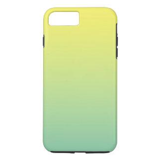 Coque iPhone 8 Plus/7 Plus Ombre vert et jaune