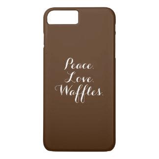 Coque iPhone 8 Plus/7 Plus Paix. Amour. Gaufres