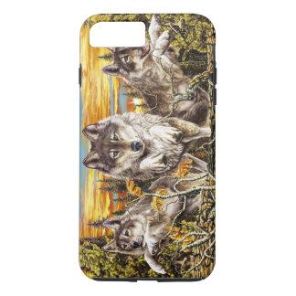 Coque iPhone 8 Plus/7 Plus Paquet de fonctionnement de loups