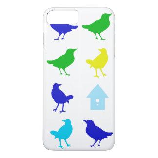 Coque iPhone 8 Plus/7 Plus Peinture des oiseaux colorés par Chariklia Zarris