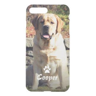 Coque iPhone 8 Plus/7 Plus Photo d'animal familier avec l'icône nommée faite