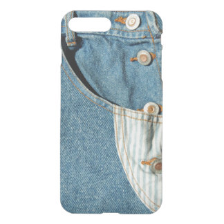 Coque iPhone 8 Plus/7 Plus Poche de blue-jean de denim