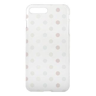 Coque iPhone 8 Plus/7 Plus Point de polka pâle