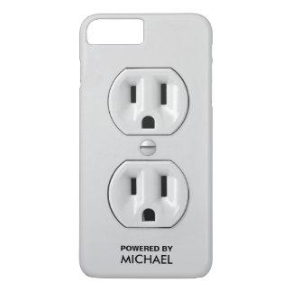 Coque iPhone 8 Plus/7 Plus Prise de courant drôle personnalisée (prise