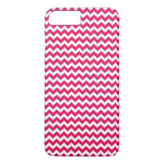 Coque iPhone 8 Plus/7 Plus Rayure rose et blanche de Chevron