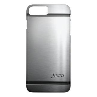 Coque iPhone 8 Plus/7 Plus Regard élégant d'acier inoxydable en métal de