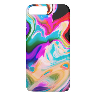 Coque iPhone 8 Plus/7 Plus Remous débordants colorés de marbre