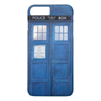 Coque iPhone 8 Plus/7 Plus Rétro botte bleue de téléphone public