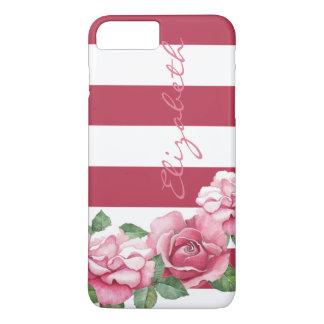 Coque iPhone 8 Plus/7 Plus Roses : iPhone peint moderne 7 de rose de rose