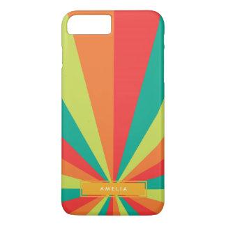Coque iPhone 8 Plus/7 Plus Roue de couleur nommée personnalisée par été chaud