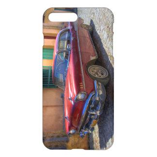 Coque iPhone 8 Plus/7 Plus Scène de rue avec la vieille voiture à La Havane