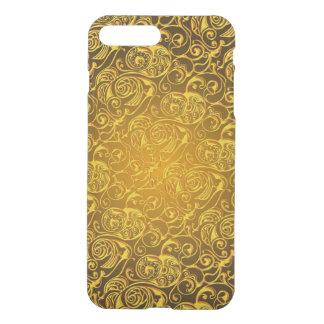 Coque iPhone 8 Plus/7 Plus schéma remous d'or