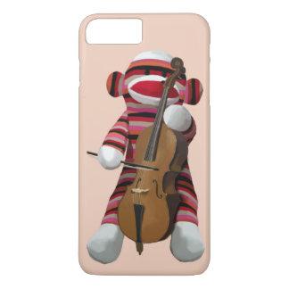 Coque iPhone 8 Plus/7 Plus Singe et violoncelle 2 de chaussette