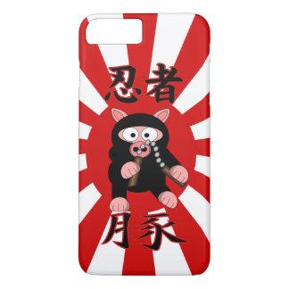 Coque iPhone 8 Plus/7 Plus Starburst de rouge de porc de Ninja