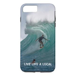 Coque iPhone 8 Plus/7 Plus Surfer drôle de plage d'océan