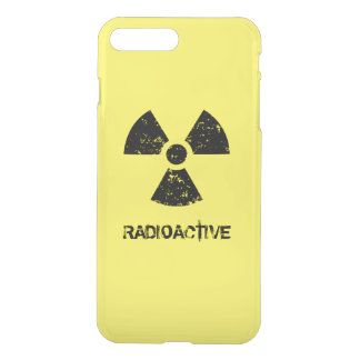 Coque iPhone 8 Plus/7 Plus Symbole radioactif jaune