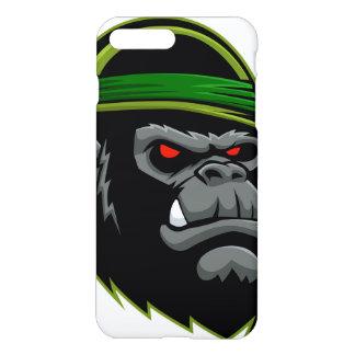 Coque iPhone 8 Plus/7 Plus Tête militaire de gorille