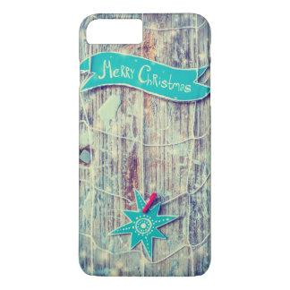 Coque iPhone 8 Plus/7 Plus Texture en bois d'étoile de décoration de Joyeux