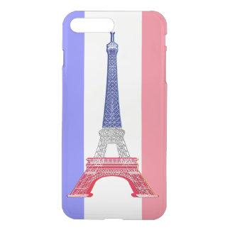 Coque iPhone 8 Plus/7 Plus Tour Eiffel français de drapeau de Paris