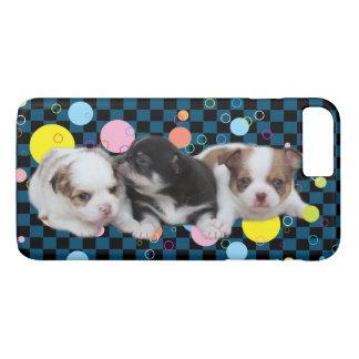 Coque iPhone 8 Plus/7 Plus Trois chiots mignons (chiens)