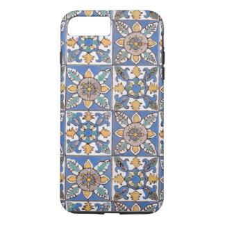Coque iPhone 8 Plus/7 Plus Tuiles faites main de mur de motif de majolique