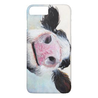 """Coque iPhone 8 Plus/7 Plus Vache fouineuse """"hé ! Comment est-ce Goin"""" ?"""