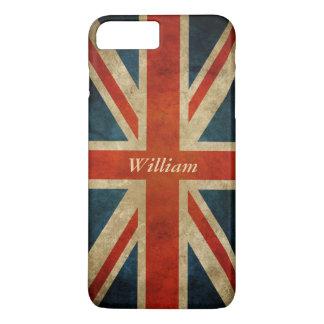 Coque iPhone 8 Plus/7 Plus Vieux drapeau BRITANNIQUE grunge - Grande-Bretagne