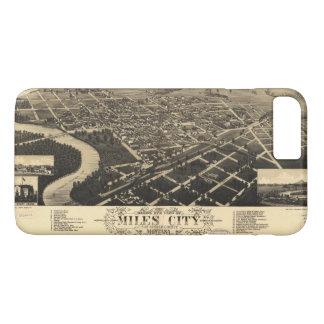 Coque iPhone 8 Plus/7 Plus Vue d'oeil d'oiseau des milles ville, Montana