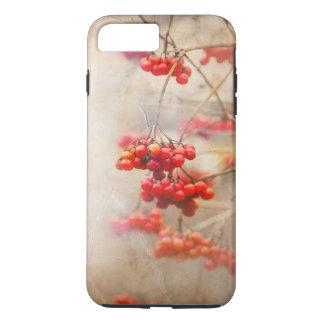 Coque iPhone 8 Plus/7 Plus Winterberry. Nature rouge d'hiver de baies