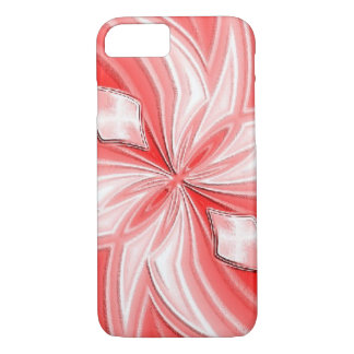 Coque iphone abstrait rose de conception