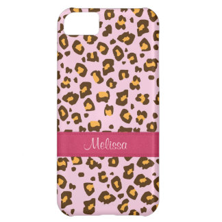 Coque iphone animal nommé de brun de rose d'emprei