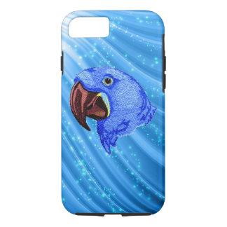 Coque iphone bleu de conception de perroquet