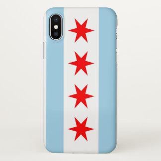 Coque iphone brillant avec le drapeau de Chicago,