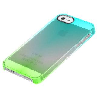 Coque iPhone Clear SE/5/5s Bleu glacier et clair vert !