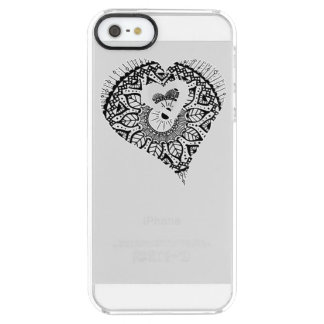 Coque iPhone Clear SE/5/5s cas du coeur 5/5s