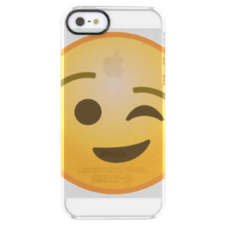 Coque iPhone Clear SE/5/5s Cligner de l'oeil Emoji