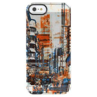 Coque iPhone Clear SE/5/5s Couverture grunge de peau de cas de Smasung