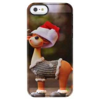 Coque iPhone Clear SE/5/5s Décorations de renne - renne de Noël