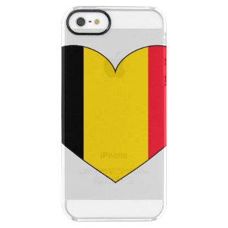 Coque iPhone Clear SE/5/5s Drapeau de la Belgique simple