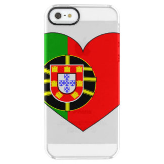 Coque iPhone Clear SE/5/5s Drapeau du Portugal simple