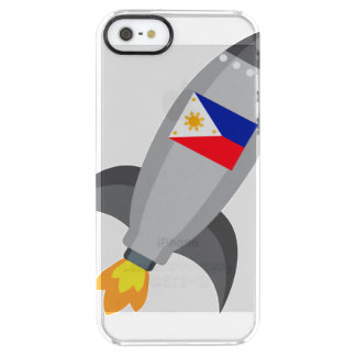 Coque iPhone Clear SE/5/5s Drapeau Rocket de Philippines